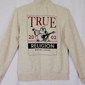 True Religion Mock Neck Half Zip Pullover Size Med
